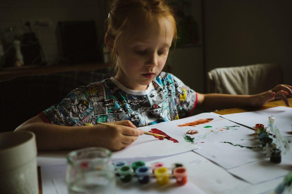 malowanie | dokumentalna fotografia rodzinna Lublin | Dzikość Serca